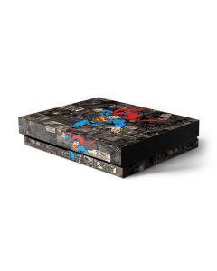 Superman Mixed Media Xbox One X Console Skin