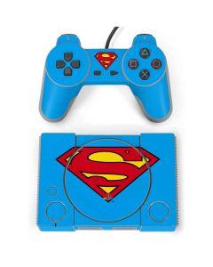 Superman Official Logo PlayStation Classic Bundle Skin