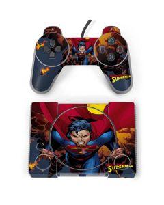 Superman on Fire PlayStation Classic Bundle Skin