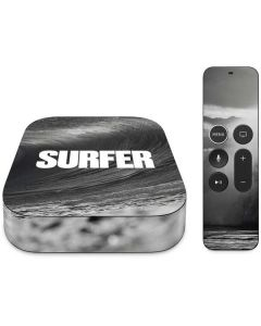SURFER Black and White Wave Apple TV Skin