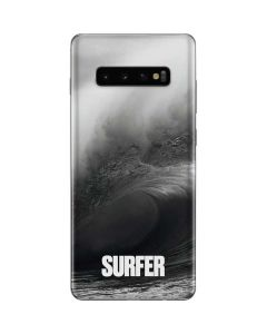SURFER Black and White Wave Galaxy S10 Plus Skin