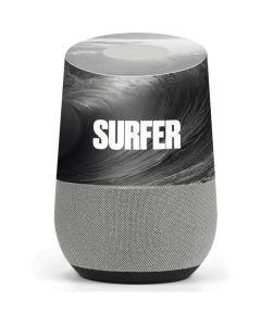 SURFER Black and White Wave Google Home Skin