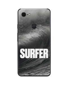 SURFER Black and White Wave Google Pixel 3 XL Skin