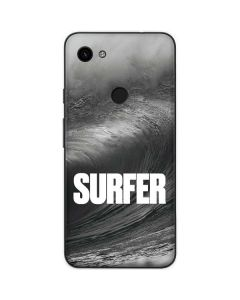 SURFER Black and White Wave Google Pixel 3a Skin