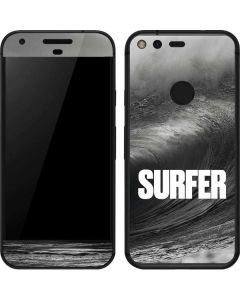 SURFER Black and White Wave Google Pixel Skin