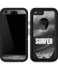 SURFER Black and White Wave Otterbox Defender Pixel Skin