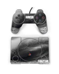 SURFER Black and White Wave PlayStation Classic Bundle Skin