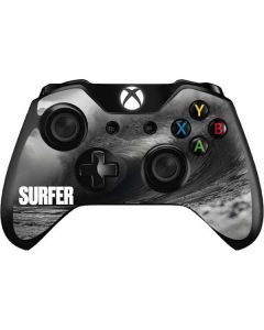 SURFER Black and White Wave Xbox One Controller Skin