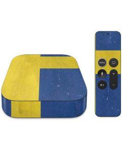 Sweden Flag Distressed Apple TV Skin