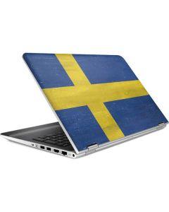 Sweden Flag Distressed HP Pavilion Skin