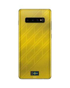 Sweden Soccer Flag Galaxy S10 Plus Skin