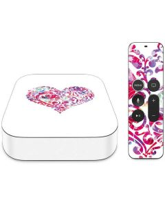Swirly Heart Apple TV Skin