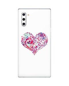 Swirly Heart Galaxy Note 10 Skin