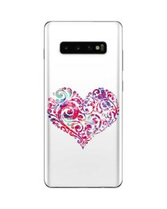 Swirly Heart Galaxy S10 Plus Skin