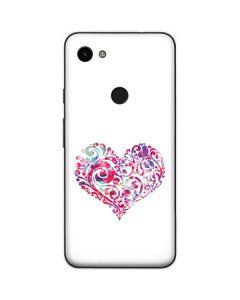 Swirly Heart Google Pixel 3a Skin