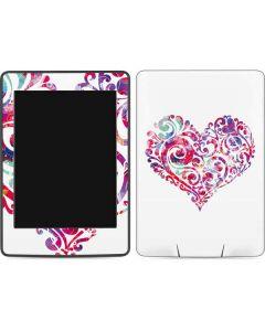 Swirly Heart Amazon Kindle Skin