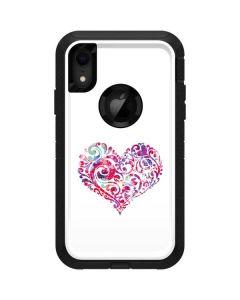 Swirly Heart Otterbox Defender iPhone Skin