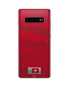 Switzerland Soccer Flag Galaxy S10 Plus Skin