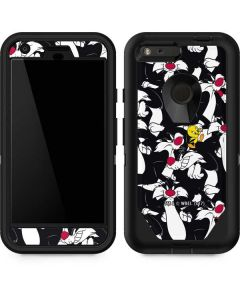 Sylvester and Tweety Super Sized Otterbox Defender Pixel Skin