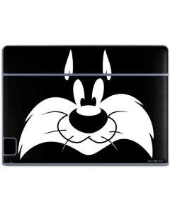 Sylvester the Cat Black and White Galaxy Book Keyboard Folio 10.6in Skin