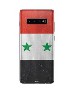 Syria Flag Distressed Galaxy S10 Plus Skin