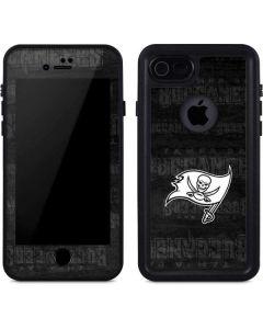 Tampa Bay Buccaneers Black & White iPhone 8 Waterproof Case