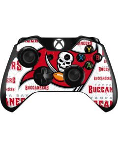 Tampa Bay Buccaneers White Blast Xbox One Controller Skin