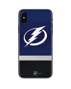Tampa Bay Lightning Alternate Jersey iPhone X Skin