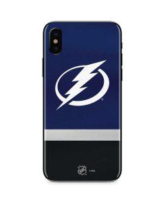 Tampa Bay Lightning Alternate Jersey iPhone XS Skin