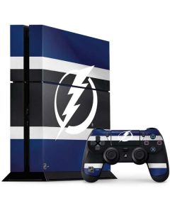 Tampa Bay Lightning Alternate Jersey PS4 Console and Controller Bundle Skin