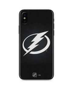 Tampa Bay Lightning Black Background iPhone X Skin