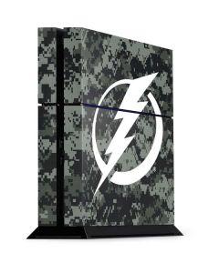 Tampa Bay Lightning Camo PS4 Console Skin