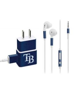 Tampa Bay Rays - Solid Distressed Phone Charger Skin