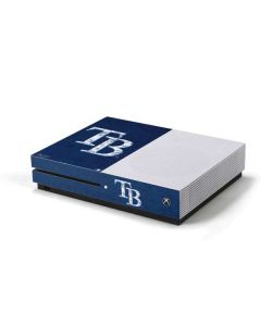 Tampa Bay Rays - Solid Distressed Xbox One S Console Skin