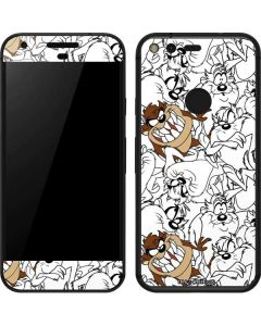 Tasmanian Devil Super Sized Pattern Google Pixel Skin