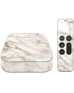 Taupe Marble Apple TV Skin
