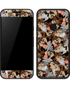 Taz Super Sized Pattern Google Pixel Skin