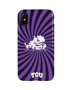 TCU Horned Frogs Mascot Swirl iPhone XS Max Pro Case