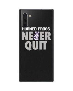 TCU Horned Frogs Never Quit Galaxy Note 10 Skin