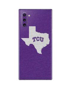 TCU Texas Outline Galaxy Note 10 Skin