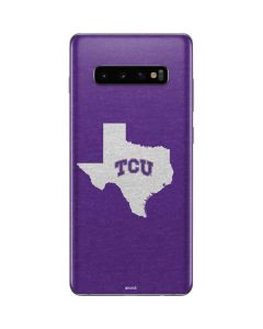 TCU Texas Outline Galaxy S10 Plus Skin