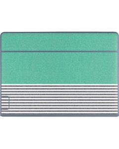 Teal and Grey Stripes Galaxy Book Keyboard Folio 12in Skin