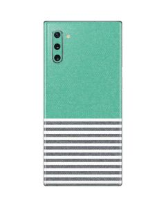 Teal and Grey Stripes Galaxy Note 10 Skin