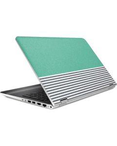Teal and Grey Stripes HP Pavilion Skin