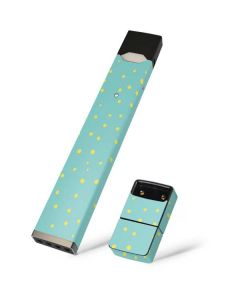 Teal and Yellow Polka Dots Juul E-Cigarette Skin