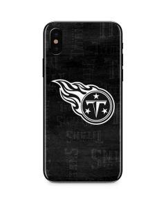 Tennessee Titans Black & White iPhone X Skin