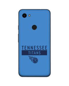 Tennessee Titans Blue Performance Series Google Pixel 3a Skin
