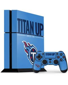 Tennessee Titans Team Motto PS4 Console and Controller Bundle Skin
