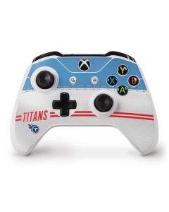 Tennessee Titans White Striped Xbox One S Controller Skin