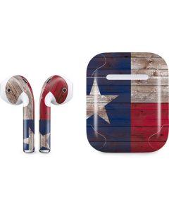 Texas Flag Dark Wood Apple AirPods Skin